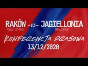 Konferencja po meczu Raków Częstochowa – Jagiellonia Białystok