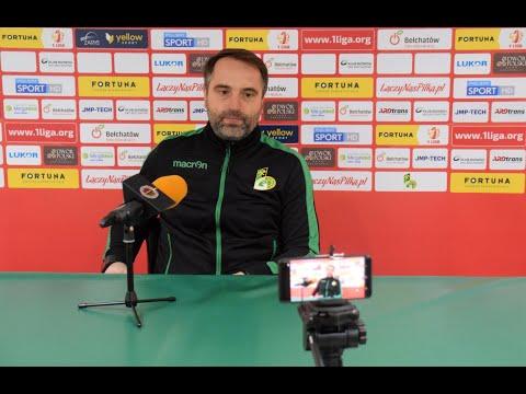 Konferencja prasowa po meczu GKS Bełchatów – Chrobry Głogów 1:2