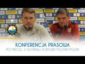 Read more about the article TV Stal: Konferencja prasowa po meczu 1/16 finału Fortuna Puchar Polski
