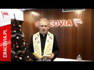 Tradycyjne błogosławieństwo opłatków #NaStadionie Cracovii (24.12.2020)