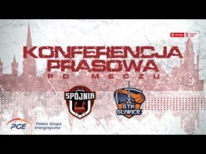 Konferencja prasowa po meczu PGE Spójnia Stargard – GTK Gliwice