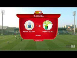 Skrót meczu Stomil Olsztyn – Górnik Łęczna 2:1 (1:0)