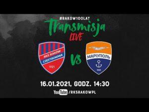 Live: Raków Częstochowa – FK Mariupol (sparing 16.01.2021) | #RAKOWONTUR 🇹🇷