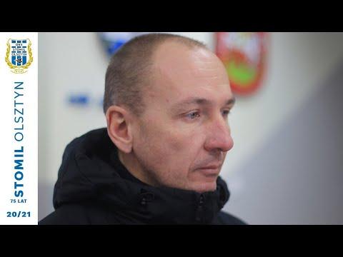 Adam Majewski po sparingu z Huraganem Morąg (16.01.2021 r.)