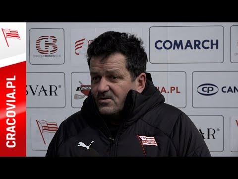 Trener Rudolf Roháček po meczu Comarch Cracovia – Ciarko STS Sanok (17.01.2021)