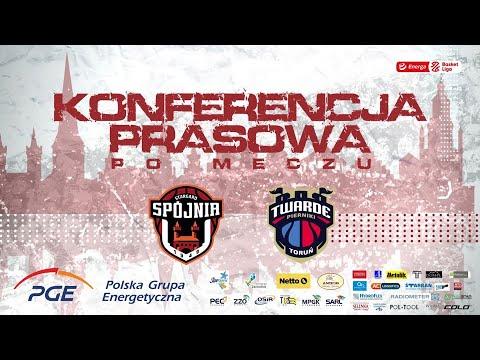 Konferencja prasowa po meczu PGE Spójnia Stargard – Polski Cukier Toruń