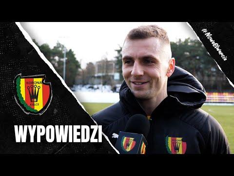 Marek Kozioł i Paweł Łysiak po sparingu z Zagłębiem Sosnowiec (23.01.2021)