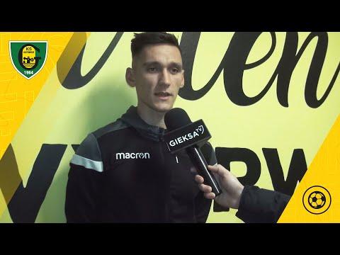 Grzegorz Rogala po meczu sparingowym GKS Katowice – LKS Goczałkowice 4:1 (24 01 2021)