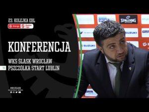 #23 Konferencja prasowa po meczu WKS Śląsk Wrocław – Pszczółka Start Lublin (24.01.2021 r.)