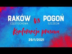 Read more about the article Konferencja po meczu Raków Częstochowa – Pogoń Szczecin
