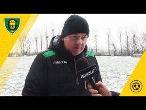 Trener Rafał Górak po meczu sparingowym Polonia Bytom – GKS Katowice 1:3 (30 01 2021)