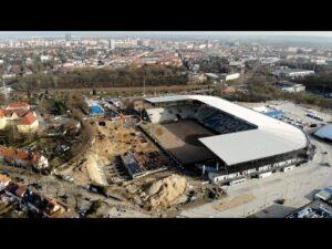 Read more about the article Budowa Stadionu w Szczecinie – Rośnie trybuna północna
