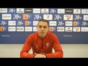 Giannis Masouras przed meczem z Podbeskidziem (05.02.2021)