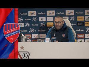 Konferencja prasowa po meczu Legia Warszawa – Raków Częstochowa