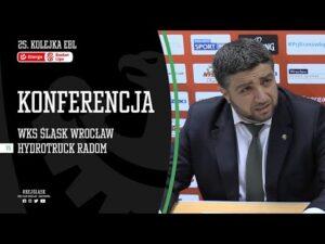 #25 Konferencja prasowa po meczu WKS Śląsk Wrocław – HydroTruck Radom (08.02.2021 r.)