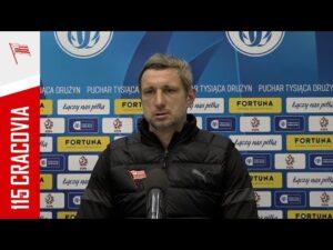 Grzegorz Kurdziel po meczu 1/8 Fortuna Pucharu Polski z Wartą Poznań (09.02.2021)