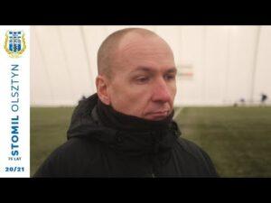Adam Majewski po sparingu z Sokołem Ostróda (12.02.2021 r.)
