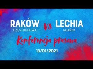 Konferencja po meczu Raków Częstochowa – Lechia Gdańsk