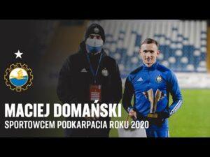 Read more about the article TV Stal: Maciej Domański Sportowcem Podkarpacia Roku 2020 – gratulacje od kolegów z szatni