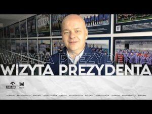 Read more about the article WIZYTA PREZYDENTA PŁOCKA NA BUDOWIE STADIONU