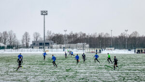 Remis na śniegu. ŁKS II Łódź – Escola Varsovia 1:1