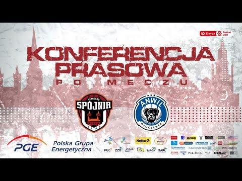 Konferencja prasowa po meczu PGE Spójnia Stargard –  Anwil Włocławek