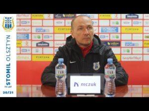 Adam Majewski przed meczem z ŁKS-em Łódź (12.03.2021 r.)
