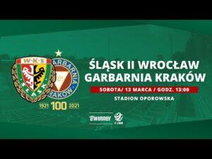 Śląsk II Wrocław – Garbarnia Kraków, 2. LIGA, 13.03.2021 | TRANSMISJA