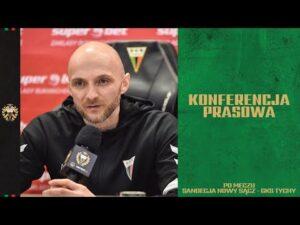 Read more about the article 20. kolejka Fortuna1Liga: Konferencja prasowa po meczu Sandecja Nowy Sącz – GKS Tychy 2:1