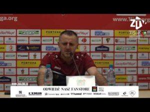 Konferencja prasowa po meczu z Odrą Opole