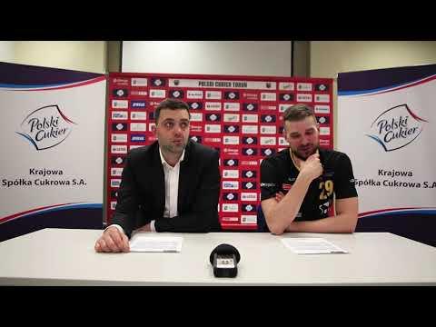 Konferencja po meczu Polski Cukier Toruń – Trefl Sopot
