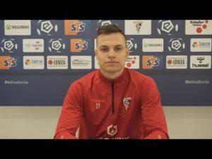 Adrian Gryszkiewicz przed meczem z Rakowem (19.03.2021)