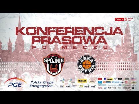 Konferencja prasowa po meczu PGE Spójnia Stargard –  Arka Gdynia