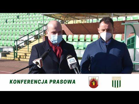 Konferencja prasowa na temat sprzedaży akcji Olimpii Grudziądz S.A.
