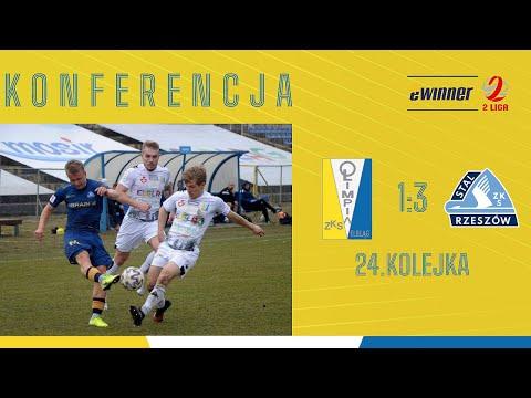 KONFERENCJA: Olimpia Elbląg 1:3 Stal Rzeszów | 24. kolejka, eWinner 2. Liga