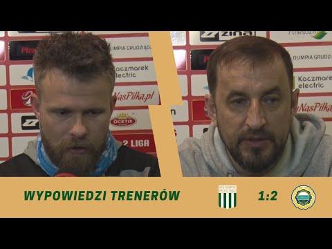 Konferencja po meczu 24. kolejki eWinner 2. Ligi: Olimpia Grudziądz – Hutnik Kraków.