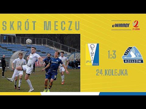 SKRÓT: Olimpia Elbląg 1:3 Stal Rzeszów | 24. kolejka, eWinner 2. Liga |