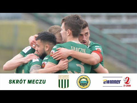 Skrót meczu Olimpia Grudziądz – Hutnik Kraków.
