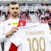 """maksymilian rozwandowicz lks lodz 100x100 - Gonią """"Maksia"""". Liczba meczów i goli w barwach ŁKS"""