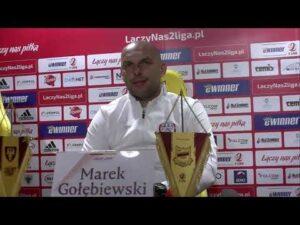 Marek Gołębiewski po meczu ze Chojniczanką Chojnice | 3.04.2021