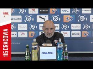 Michał Probierz przed meczem z Jagiellonią Białystok (07.04.2021)