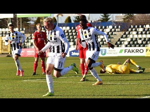 2021-04-10 Sandecja – Zagłębie Sosnowiec 2-1 (1-0), skrót meczu