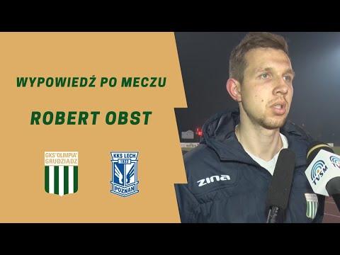 Wypowiedź Roberta Obsta po meczu z Lechem II Poznań.