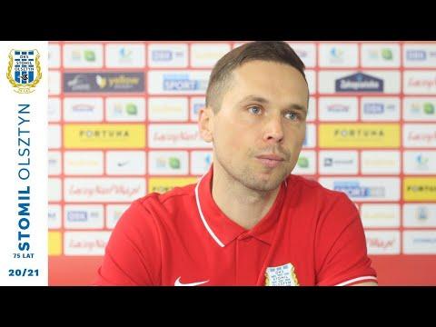 Piotr Klepczarek przed meczem z Resovią (16.04.2021 r.)