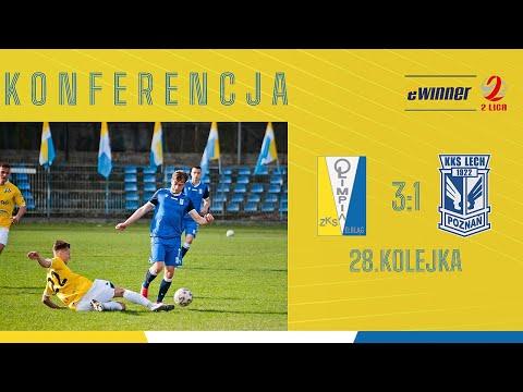 KONFERENCJA: Olimpia Elbląg 3:1 Lech II Poznań | 28. kolejka, eWinner 2. Liga