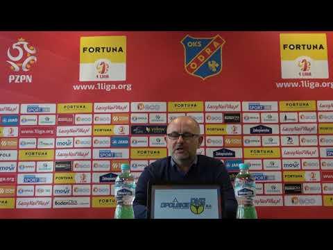 Konferencja prasowa po meczu 25. kolejki Fortuna 1 Liga Odra Opole  Korona Kielce 1:0 (0:0)
