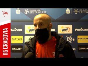 Lukáš Hroššo po meczu z Legią Warszawa (18.04.2021)