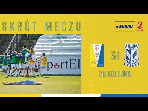 SKRÓT: Olimpia Elbląg 3:1 Lech II Poznań | 28. kolejka, eWinner 2. Liga