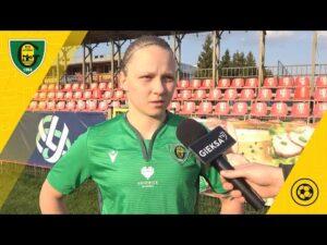 Klaudia Miłek po meczu TME UKS SMS Łódź – GKS Katowice 2:0 (21 04 2021)