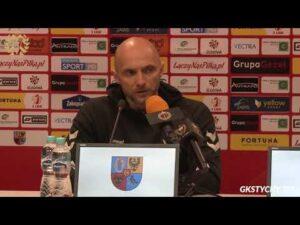 Read more about the article 26. kolejka Fortuna1Liga: Konferencja prasowa po meczu Chrobry Głogów – GKS Tychy 1:0